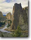 Stock photo. Caption: The Crooked River Smith Rocks State Park High Desert Oregon -- united states america landscape landscapes scenic scenics fall autumn climbing destination destinations rock climbers climb rivers deserts
