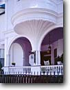 Stock photo. Caption: Architectural detail Two Meeting Street Charleston Berkeley County,  South Carolina -- east eastern southeast southeastern atlantic building buildings village historic historical classic heritage history architectural american archway arch details hotel lodging breakfast private