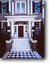Stock photo. Caption: Entryway Historical District Charleston Berkeley County,  South Carolina -- east eastern southeast southeastern atlantic building buildings village historic history classic heritage history architectural american door doors entryways brick elegant elegance stairway stairways southern style living