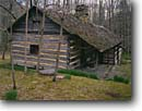 Stock photo. Caption: Smoky Mountains Hiking Club Log Cabin Porter
