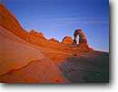 Stock photo. Caption: Delicate Arch Arches National Park Colorado Plateau Utah -- parks united states southwest southwestern country united states america landscape landscapes tourist travel destination destinations deserts buttes butte formation formations rocks erosion arches red rock redrock windows slickrock parks region plateaus