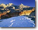 Stock photo. Caption: Snow on sandstone above Grand Wash   and Ferns Nipple Capitol Reef National Park Colorado Plateau,  Utah -- united states america snow snowy winter slickrock canyon country sandstone parks landscape landscapes tourist travel destination destinations eroded erosion desert deserts cold anticline anticlines upheaval fold folds southwest southwestern