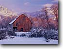 Stock photo. Caption: Old barn   and Bear River Range   from Cache Valley Great Basin,  Utah -- barns mountain summer snow capped wooden tree trees ranch ranches ranching country barnyards yard countryside rural americana united states america state rustic
