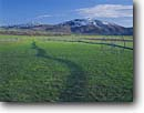 Stock photo. Caption: Irrigation wheel Mount Sterling Cache Valley Utah --   irrigated sprinkler sprinklers field fields farm farms farming farmland farmlands ranch ranches ranching agriculture spring mountain mountains united states america harvest harvesting systems clear sunny blue skies green