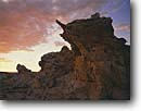 Stock photo. Caption: Eroded Navajo sandstone,  Spencer Flat Grand Staircase-Escalante  National Monument Colorado Plateau,  Utah -- monuments canyon canyons slickrock erosion rock plateaus country travel destination destination geology geologic evolution solitude weathered rugged sunset sunsets redrock landscape landscapes scenics scenic unusual rocky outcropping southwest deserts