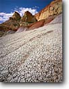 Stock photo. Caption: Bentonite hills, Circle Cliffs Grand Staircase-Escalante   National Monument Colorado Plateau,  Utah -- united states america slickrock canyon country sandstone parks landscape landscapes desert deserts monuments clay geology geologic formations formation sunny clear
