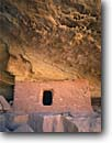 Stock photo. Caption: Cliff dwelling Slickhorn Canyon,  Cedar Mesa Grand Gulch Primitive Area Colorado Plateau,  Utah -- indian canyons country deserts pueblos ruin ruins native american historic parks desert anasazi southwest southwestern construction rock structure mysterious dwellings window remote stone mesas living structures ancient original habitat windows scenics