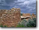 Stock photo. Caption: Hovenweep House and Hovenweep Castle Square Tower Loop Hovenweep National Monument Colorado Plateau,  Utah -- indian canyons country deserts pueblos ruin ruins native american historic parks desert anasazi southwest southwestern construction rock structure monuments dwellings remote ancient walls redrock weather inclement ominous stone buildings building history