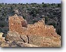 Stock photo. Caption: Stronghold House Little Ruin Canyon Hovenweep National Monument Colorado Plateau,  Utah -- indian canyons country deserts pueblos ruins native american historic parks desert anasazi southwest southwestern construction rock structure monuments dwellings remote ancient walls redrock stone buildings building history sunny clear spring strength