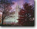 Stock photo. Caption: LDS (Mormon) Temple   and Temple Square Salt Lake City Wasatch Front, Utah -- churches worship temples travel travels building pray prayer meditation hope religious sacred religion places mormons landmark landmarks faith city strong strength cityscape buildings