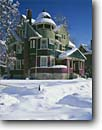 Stock photo. Caption: Elmer Darling House built 1886 First Avenue Salt Lake City Salt Lake County,  Utah -- buildings historic places historical building united states america architecture victorian snow snowy winter settler settlers early pioneers house houses victorians blue skies sunny clear crisp example