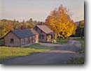 Stock photo. Caption: Post Office Lower Waterford Caledonia County Vermont, New England -- rural united states america pastoral historical history autumn fall color colour colours colors backroad backroads rustic road roads lane lanes country scenic scenics small town towns