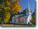 Stock photo. Caption: Red maple and church Grafton Windham County Vermont, New England -- fall autumn worship country steeple white quaint churches maples northeast northeastern places worship villages town towns sunny clear blue crisp building buildings religous sympols americana backroads baokroad small america skies peace peaceful foliage