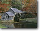 Stock photo. Caption: Mabry Mill Blue Ridge Parkway Blue Ridge Mountains Virginia -- fall autumn waterfall waterfalls race quaint nostalgia nostalgic east south southeast mills historic historical buildings america rural waterwheel waterwheels flume flumes diversion water diversions alternative energy wooden canal canals power green