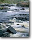 Stock photo. Caption: Big Falls Eau Claire River Eau Claire County Wisconsin -- waterfall waterfalls upper midwest midwestern united states america eratic erratic rivers landscape landscapes erractic eratics scenic scenics large boulder
