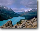 Stock photo. Caption: Peyto Lake,  Mt. Patterson & Mt. Weed Banff  National Park Rocky Mountains Alberta,  Canada -- aqua blue glacial silt fall autumn tree trees lakes world heritage site parks mountain canadian rockies landscape landscapes tourist destination destinations rainbows rainbow rain inspirational inspiration alpine wisdom beautiful hope faith scenic scenics