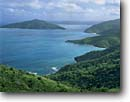 Stock photo. Caption: Cooten Bay and Guana Island    from Ridge Road Tortola British Virgin Islands -- caribbean seascape seascapes clouds tropical destination destinations vacation vacations tourist travel vista vistas overlook overlooks warm holiday winter getaway blue ocean beaches secluded paradise azure dream happy winter colour scenic landscapes