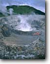 Stock photo. Caption: Main crater of Poas Volcano Poas Volcano National Park Central Volcanic Range Alajuela Province,  Costa Rica, -- America wettest rainy remote parks  tropical central america eastern pacific ocean travel destination destinations landscape landscapes volcano volcanos volcanoes craters steam geothermal active hotsprings ecotourism volcanic activity steaming stark harsh