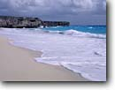 Stock photo. Caption: Bottom Bay and North Atlantic Ocean St. Philip Parish Barbados Windward Islands,  Lesser Antilles -- shore lesser antilles coast sand beach sandy beaches headlands waves surf caribbean island tropical destination destinations vacation vacations tourist travel landscape landscapes exotic warm climate private secluded oceans paradise azure white sandy