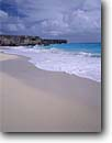 Stock photo. Caption: Bottom Bay &  Atlantic Ocean St. Phillip Parish Barbados Windward Islands -- shore lesser antilles coast sand beach sandy beaches headlands waves surf caribbean island tropical destination destinations vacation vacations tourist travel landscape landscapes exotic warm climate private secluded oceans paradise azure white sandy