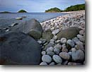 Stock photo. Caption: Richardson Harbor Pukaskwa National Park Lake Superior Ontario,  Canada -- canadian lakeshore lakeshores rocky shore shoreline lakes parks north america summer great round rocks harbour harbours overcast light circle circles shoreliens beach beaches rugged