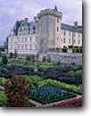 Stock photo. Caption: Villandry Chateau Villandry Loire River Valley Centre Region, France -- chateaus castle castles central europe european french travel tourist destination destinations world heritage site sites attraction attractions extravagance wealth wealthy durable security garden gardens formal jardin jardins potager kitchen famous