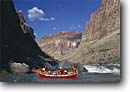 Stock photo. Caption: Dories below Lava Falls Colorado River Grand Canyon National Park Colorado Plateau,  Arizona -- boating dories trip trips southwest southwestern united states america rivers canyons spring desert deserts country rafting boat boats dory adventure wilderness experience plateau whitewater parks leisure  isolation solitude people floating float rapid