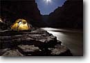 Stock photo. Caption: Moonlit tent at Ledges Camp Colorado River Grand Canyon National Park Colorado Plateau, Arizona -- united states america artistic nature camping camp campers camper tents moonlight southwest adventure raft trip outdoor recreation night evening rock rocks water rivers peaceful parks wild sleep sleeping people