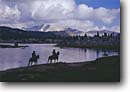 Stock photo. Caption: Cowboys along Lower Indian Lake John Muir Wilderness Sierra Nevada California -- united states america landscape landscapes person people highcountry lake lakes mountains wildernesses sierras backcountry horsepackers horsepacker horseman western pack trail packer packers cowboys outdoor recreation horseback