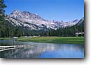 Stock photo. Caption: Evolution Valley Kings Canyon National Park Sierra Nevada California -- united states america landscape landscapes solitude highcountry lake lakes mountains wildernesses sierras backcountry isolation isolated hiker person people pacific crest john muir trail hikers