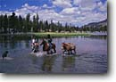 Stock photo. Caption: Backcountry pack trip on horseback Lou Beverly Lake Sierra National Forest Sierra Nevada, California -- united states america landscape landscapes person people highcountry lake lakes mountains wildernesses sierras backcountry horsepackers horsepacker horseman western pack trail packer packers cowboys outdoor recreation adventure horseback