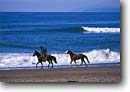 Stock photo. Caption: Horseback on the beach Montana de Oro State Park Central Coast San Luis Obispo County, California -- united states america person people cowboy lifestyle western heritage horses horse riding  pleasure horseback beaches waves