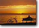Stock photo. Caption: Sunset, bike Shell Beach San Luis Obispo County California -- united states america  idyllic harmony sweet bicycle bicycles peaceful sunsets people