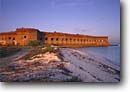 Stock photo. Caption: Fort Jefferson `Garden Key Dry Tortugas National Park Gulf of Mexico,  Florida -- parks united states america dive site history historical forts historic tropical tourist destination destinations diving beach beaches parks sunny clear blue sky skies
