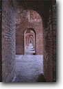 Stock photo. Caption: Interior walls of Fort Jefferson Garden Key Dry Tortugas National Park Gulf of Mexico,  Florida -- parks united states america history historical forts historic tropical tourist destination destinations brick archway arch arches corridor corridors formidable archways interiors