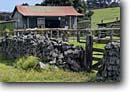 Stock photo. Caption: Rock walls near Pukalani Stables Parker Ranch South Kohala Island of Hawaii, Hawaii -- grass grasses grassland grasslands ranches ranches ranchland ranchlands tropical verdant pasture pastures fence fences wire stable horse horses wall
