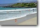Stock photo. Caption: Hapuna Beach Hapuna Beach State Park South Kohala Island of Hawaii,  Hawaii -- beaches sandy wave waves boogie boarding board tropical surf destination destinations body surfing parks hawaiian vacation spot spots popular sunnt warm hotel hotels kids children