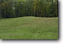 Stock photo. Caption: Great Bear Mound Group Effigy Mounds National Monument Allamakee County Iowa -- destinations attractions tourist attractions historic scenics parks autumn fall monuments midwest midwestern image prehistoric site sites mounds animal symbol symbols ancient animals likeness form shape religious indian native americans america archeology