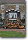 Stock photo. Caption: Amana Amana Colonies Iowa County Iowa -- destinations destination attraction tourist travel attractions scenics autumn fall midwest midwestern building buildings historic historical landmark landmarks national village villages settlement settlements halloween decorations seasonal pumpkins