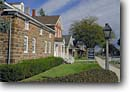 Stock photo. Caption: Amana Amana Colonies Iowa County Iowa -- destinations destination attraction tourist travel attractions scenics autumn fall midwest midwestern building buildings historic historical landmark landmarks national village villages settlement settlements religious brick towns town sidewalk