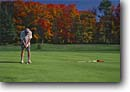 Stock photo. Caption: Pictured Rocks Golf Course Munsing Alger County Upper Peninsula,  Michigan --   putt putting putter green greens golfing golfer golfers fall autumn united states america midwest midwestern color people