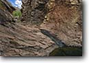 Stock photo. Caption: Slide waterfall on Post Oak Creek Charon
