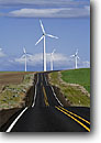 Stock photo. Caption: Electric generating windmills    Highway 206    between Condon and Wasco Sherman County,  Oregon -- united states america landscape landscapes northern northwest northwestern power generation alternative windmill road roads highways creating energy create creation ways future wind harnessing electricity clean efficient grid source sources power green