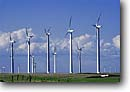 Stock photo. Caption: Electric generating windmills    Highway 206    between Condon and Wasco Sherman County,  Oregon -- Keywords: united states america landscape landscapes northern northwest northwestern power generation alternative windmill road roads highways creating energy create creation ways future wind harnessing electricity clean efficient grid source sources green powered