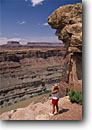 Stock photo. Caption: Colorado River Overlook   and Junction Butte Canyonlands National Park Colorado Plateau,  Utah -- united states spring canyon country parks visitor visitors hiker hikers rivers overlooks woman women  backcountry plateaus canyons desert deserts layers hiking trail people sunny landscape landscapes clear skies hiking vista scenic scenics views hikers
