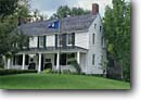 Stock photo. Caption: Old Constitution House Windsor Vermont,  New England -- united states america spring historic historical houses flag flags americana building buildings history tours government northeast northeastern small scene scenes scenic scenics view views landscape landscapes tavern former taverns
