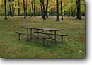 Stock photo. Caption: Picnic Ground at Little Manitou Falls Black River Pattison State Park Douglas County, Wisconsin -- autumn fall parks midwest upper midwestern landscape landscapes scenic scenics attractions attraction destination destinations tourist travel foliage tables picnicking picnicing table inviting place rest leisure vacation spot spots resting