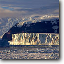 Stock photo. Caption: Icebergs and  Admiralty Range Ross Sea Southern Ocean Antarctica -- Keywords: